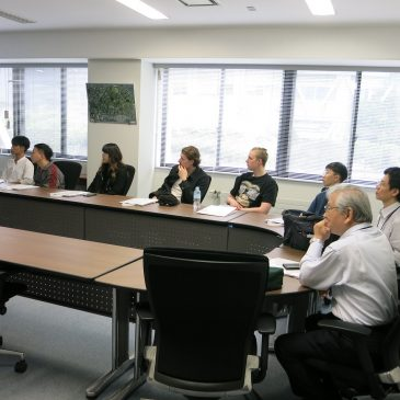 A Visit from National Institute of Technology, Kushiro College